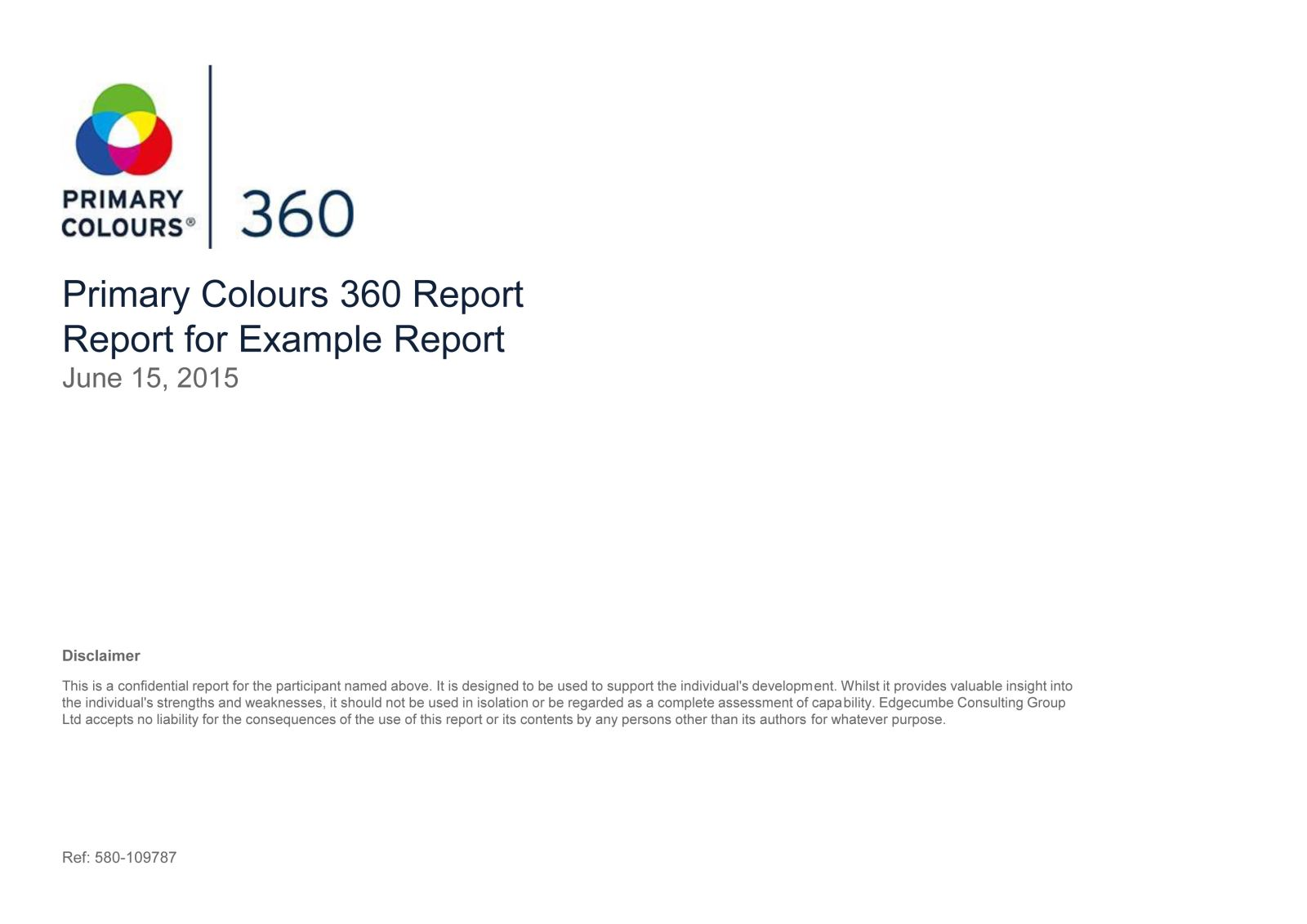 Primary Colours 360 Report
