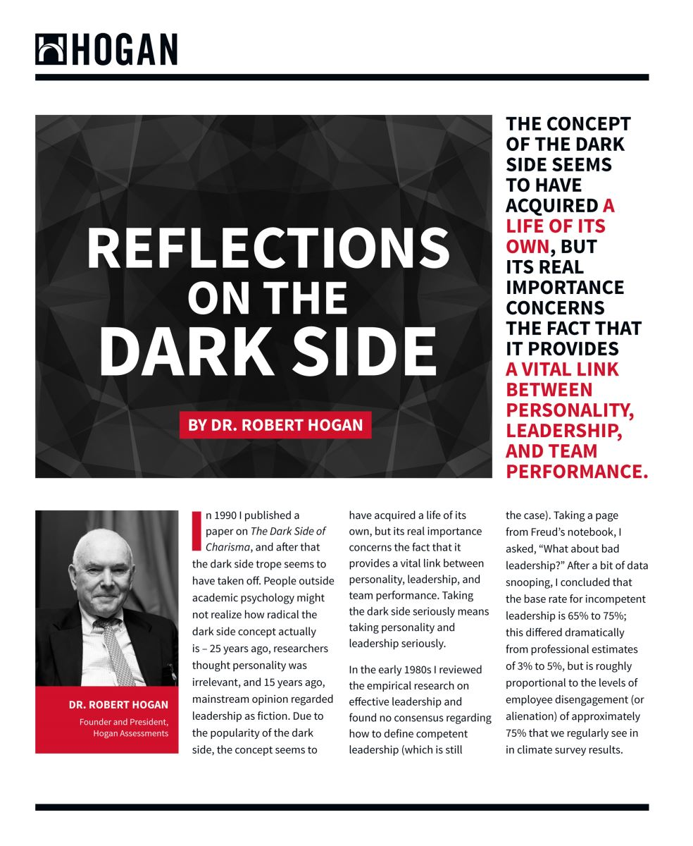 Reflection on the dark side